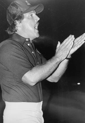 Randy Ross is shown during his coaching days at Southside High School.