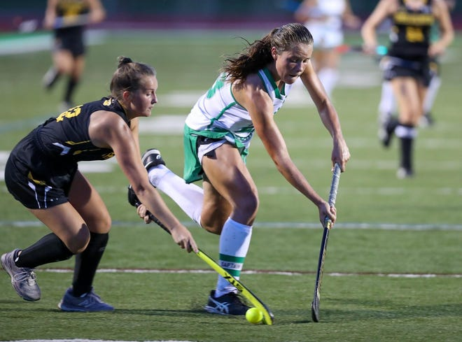 Junior midfielder Holland Bell, right, is among the key players expected to return for the Scioto field hockey team. Bell is an Ohio State commit.