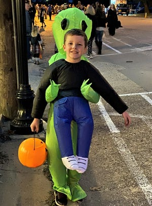 Scores of monsters, witches and superheroes descended on downtown Van Alstyne Sept. 24 for the city's annual Trick-or-Treat event. Representatives from more than 50 businesses were on hand to make sure they didn't go home hungry. Local officials report no serious sugar overdoses, though some parents may beg to differ.