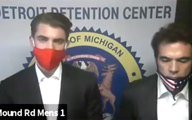 Jacob Wohl and Jack Burkman were arraigned in 36th District Court.