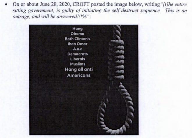 Barry Croft memposting gambar ini di halaman Facebook-nya, menurut FBI.