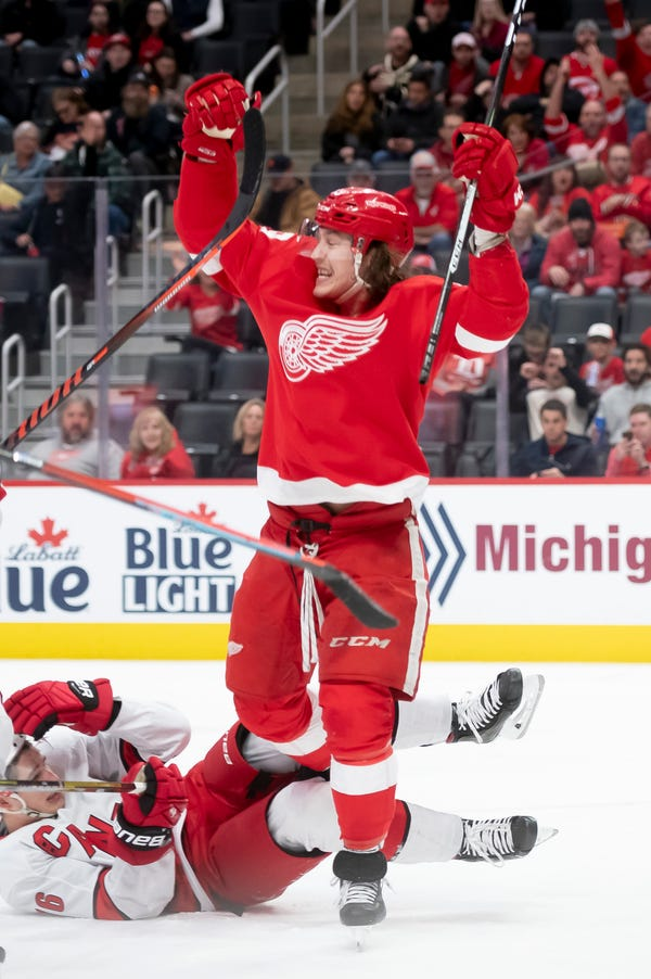 Red Wings forward Tyler Bertuzzi was awarded $3.5 million in salary arbitration for the 2020-21 season.