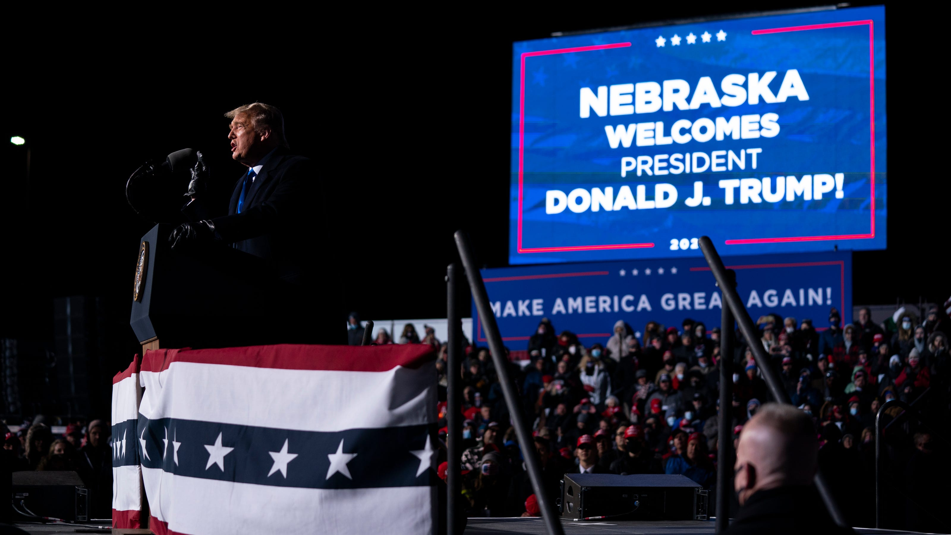 Supporters stranded hours after Trump's Omaha rally ends