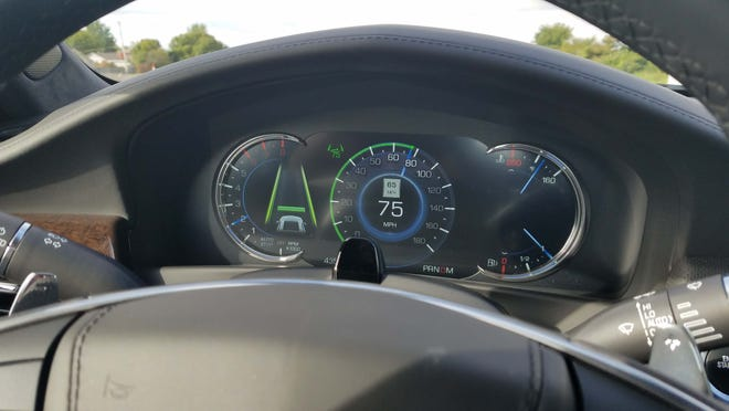 Cadillac's Super Cruise makes sure drivers are paying attention with an infrared camera on the steering wheel. Super Cruise is an evolution of adaptive cruise-control.