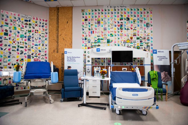 Displays of advance medical technology at the Brownsville Hospital in Brownsville, Tenn., Tuesday, Oct. 27, 2020.  Braden Health buys Haywood Community Park Hospital with plans to reopen in the facility by Oct. 2021 and bring back its emergency room and inpatient services.