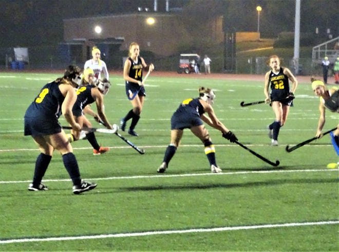 The Lancaster field hockey team faced off against No. 2 seed Thomas Worthington in a Division I second-round tournament game. The Lady Gales came up short, 3-0.