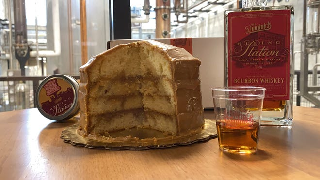 A look at Sugar Avenue Bakery's Memphis Bourbon Caramel Cake made with Old Dominick Huling Station Bourbon.