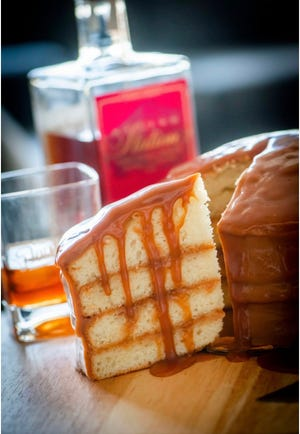 The Memphis Bourbon Caramel Cake from Sugar Avenue Bakery.  Sugar Avenue partnered with Old Dominick Distillery on this new cake flavor.