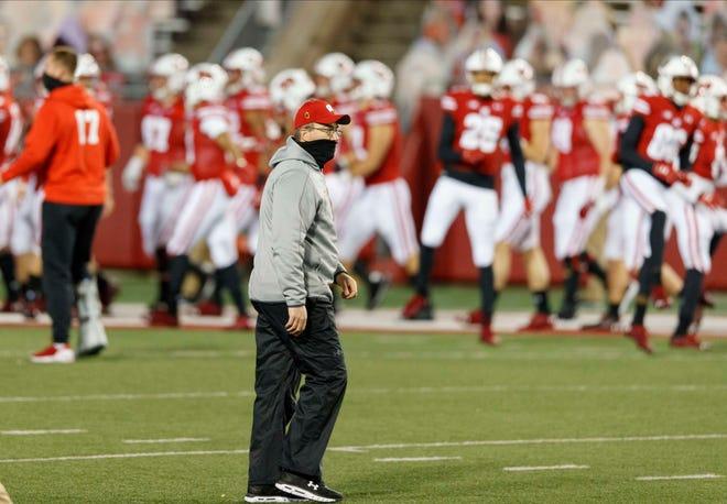 Wisconsin football coach Paul  Chryst's contract runs through Jan. 31, 2026.