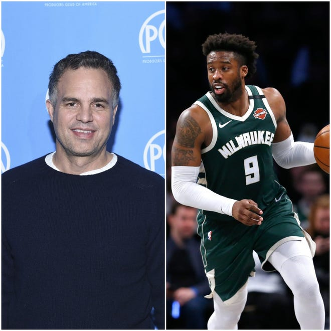 With backing from Mark Ruffalo (left) and others, Wesley Matthews was featured in an online commercial encouraging Wisconsinites to vote.
