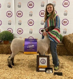 Baxter County 4-H member Judith Loyd recently took the honor of Grand Champion Yearling ewe at the 2020 Arkansas State Fair.