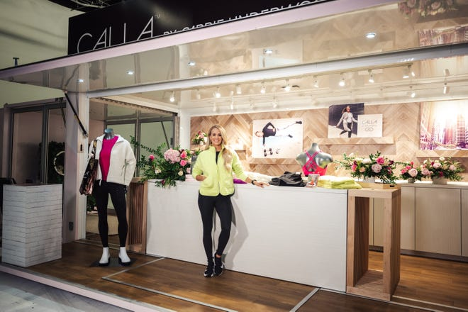 CALIA by Carrie Underwood opened its first three pop-up retail locations on Oct. 28, 2020, including a location at The Mall at Green Hills in Nashville. The shop features apparel from the brand's fall and winter 2020 collection.