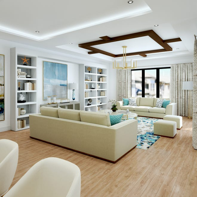 Quattro at Naples Square in downtown Naples features seven spacious two, three, and four-bedroom plus den open-concept, single-story floor plans ranging from 2,310 to 3,875 total square feet and priced from $1.3 million.