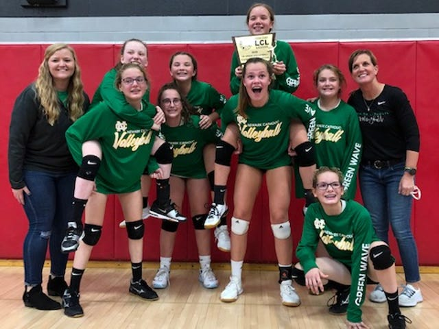 Newark Catholic's seventh-grade team won the Licking County League title.