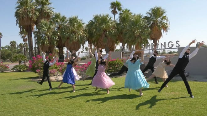 """""""Front Row Center,"""" the weekly TV show produced by the Palm Springs Unified School District Foundation, features student actors from David Green's Musical Theatre University at Rancho Mirage High School."""