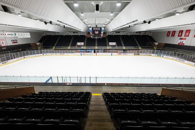 In addition to new seats, a new LED lighting system has been installed in McMorran Arena. The theater and arena at McMorran will be reopening  at 20% capacity.