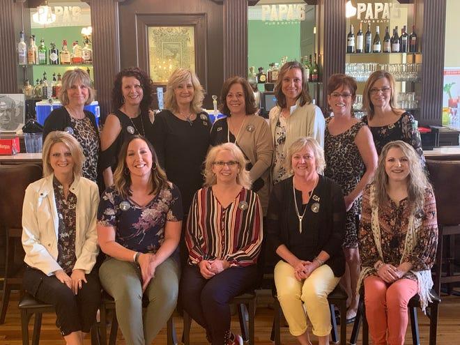 The Epsilon Sigma Alpha membership includes back (left-to-right): Maria Crisp, Natalie Reed, Sheba Schlaikjer, Diana Jones, Lori Morris, Glenda Siemonsma, Sandy Grismer. Front row (left-to-right): Teri Zastrow, Jericha Phelps, Kim Berven, Laurie Huewe, Melissa DeNoon; Not pictured Brenda O'Hara.