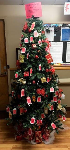 Tags fill an Angel Tree last year in Dell Rapids, South Dakota.