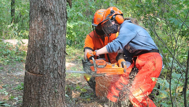The University of Wisconsin-River Falls opened the new Ecological Restoration Institute recently as a way to teach students the skills of natural resources management. Among the offerings is a chainsaw safety class.