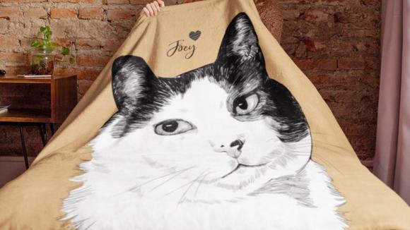 Best cat gifts: Custom Pet Blanket