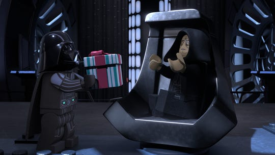 """""""LEGO Star Wars Holiday Special"""" (Nov. 17, Disney+): Darth Vader gifts a present to the Emperor in the new animated special bringing together characters from all the """"Star Wars"""" movies with a kitschiness pulled from the infamous 1978 TV holiday special."""