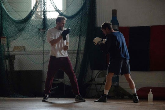 """""""Jungleland"""" stars Charlie Hunnam (left) and Jack O'Connell as brothers who owe a dangerous crime boss and pick up an unexpected stranger traveling to a high-stakes bareknuckle boxing tournament."""