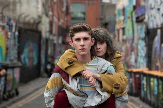 """The LGBTQ-themed romantic comedy """"Dating Amber"""" stars Fionn O'Shea as a closeted gay teen and Lola Petticrew as his lesbian friend who pretend to be a straight couple as a way to fit in at school."""