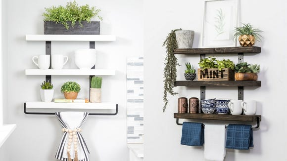 Best gifts from Walmart 2020: Del Huston Designs industrial floating shelves