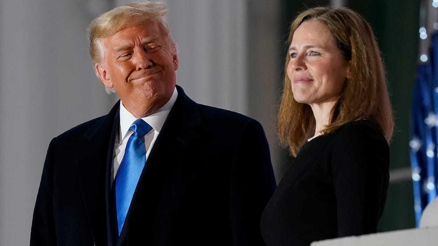 Amy Coney Barrett steers the Supreme Court to the right, but not toward President Trump