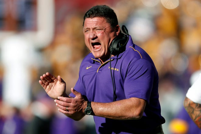 Ed Orgeron is the head football coach at LSU.