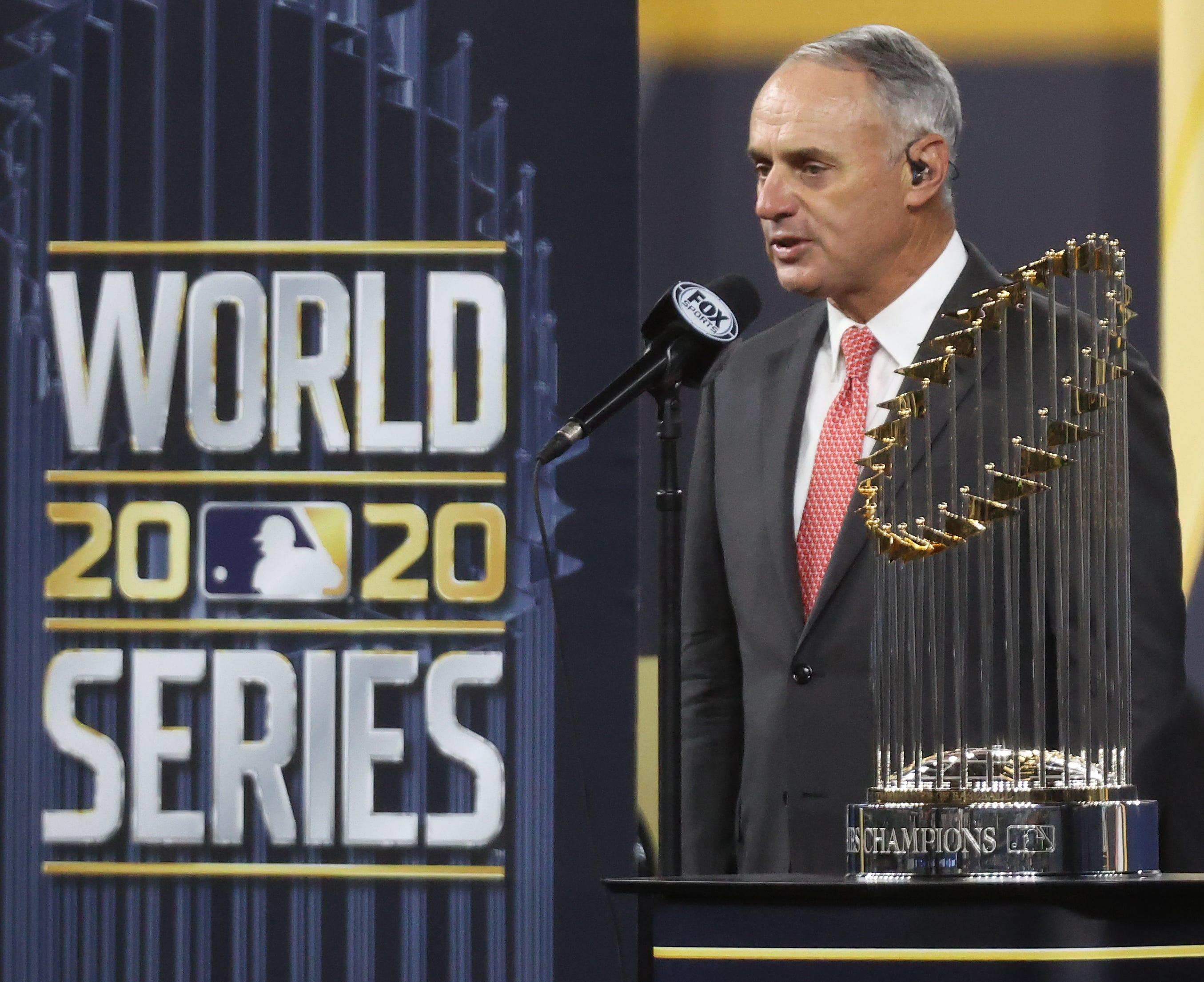 MLB commissioner Rob Manfred says 'baseball should be proud' of 2020 season