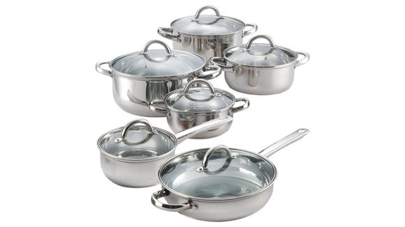 Best gifts from Walmart 2020: Cook N Home 12-Piece Cookware Set