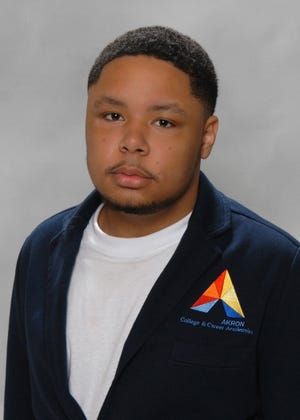 Jaysean Davis, 19, is the first recipient of a scholarship at the University of Akron for future Akron Public Schools teachers.