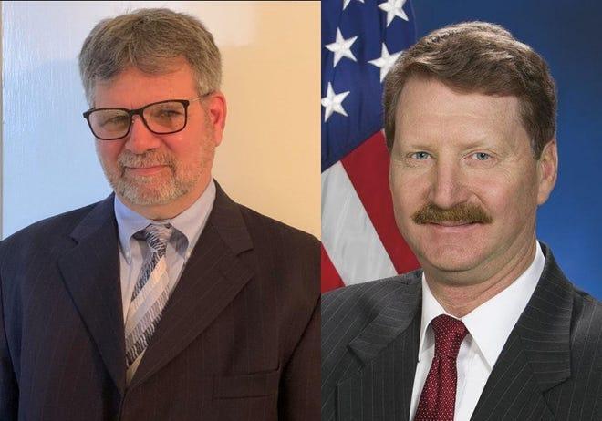 State Sen. Elder Vogel Jr. R-47, right, will face Democrat Stephen Krizan, left, for the seat representing Pennsylvania's 47th Senatorial District.