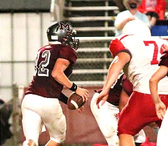 Merryville quarterback Blaise Duncan (12) will lead the Panthers on the road Friday as they face the Gueydan Bears in a district contest at 7 p.m