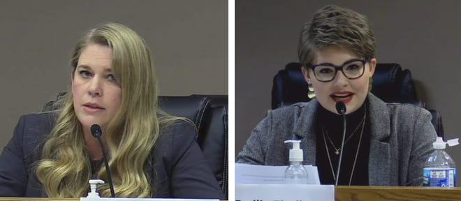 District 11 candidates Wendi Stearman, left, and Emilie Tindle.