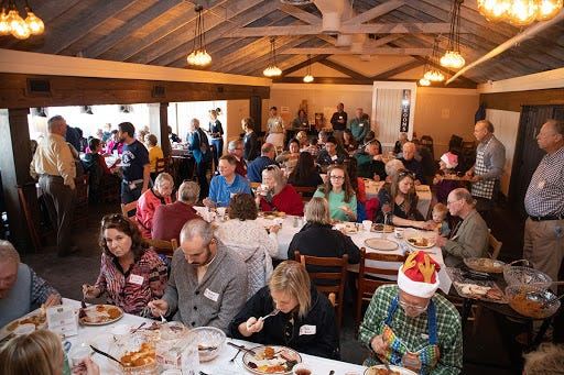 The annual Community Thanksgiving Dinner at Hudson's Seafood House on the Docks has been canceled this year because of COVID-19.