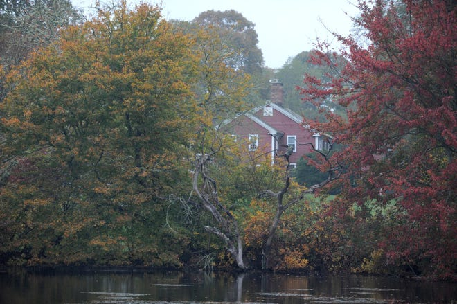 MARSTONS MILLS -- A steady rain can't mute the colors around Mill Pond.
