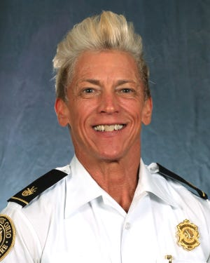 Tracy Smith is the first woman in the history of the Columbus Division of Fire to be promoted to the rank of assistant chief.