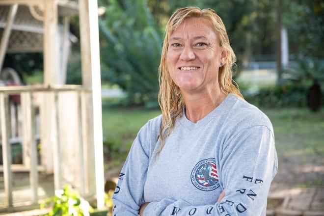 USAF veteran Laurelei Haines at her home in Astatula.