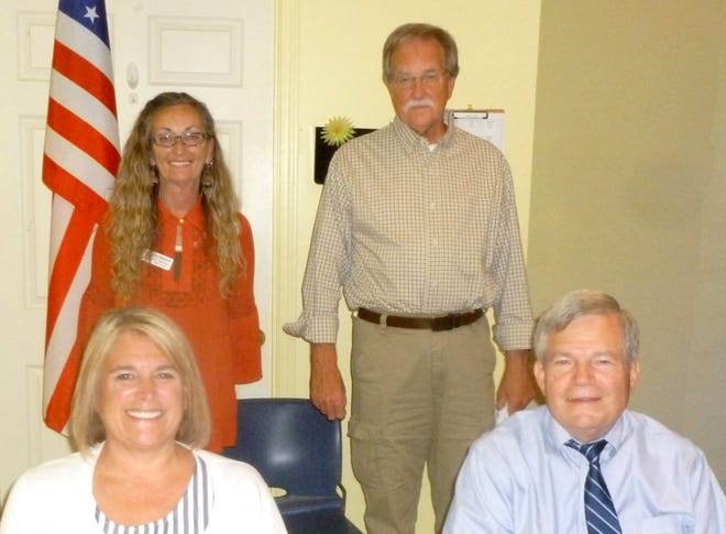 Officers for 2020-21 of The Workshop Davidson Inc. are: Front, from left, Vice President Debbie Harris and President Olen Easter Jr.; standing, Secretary Cathy Misenhiemer and Treasurer Doug Meredith.