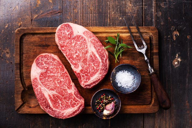 The most common grades of beef are prime, choice and select. Prime has lots of fat marbling for juiciness and flavor.