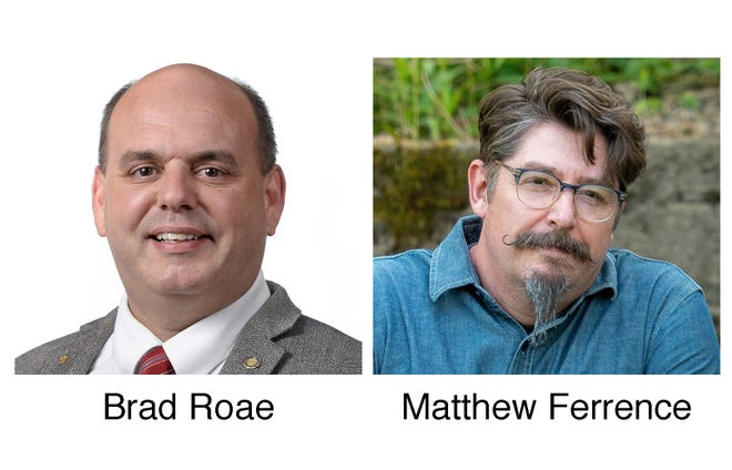 Voters in Pennsylvania's 6th Dist. will choose between Republican incumbent Brad Roae, left, and Democrat Matthew Ferrence, right, an Allegheny College professor, for state representative in Tuesday's general election.