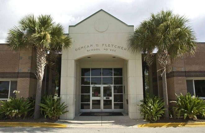 Bob Mack/staff--8/5/05- Front entrance views of Duncan U. Fletcher High School in Neptune Beach. (Bob Mack/The Florida Times-Union)