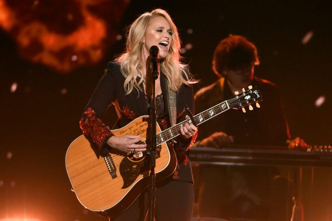 """In this April 15, 2018, file photo, Miranda Lambert performs """"Keeper of the Flame"""" at the 53rd annual Academy of Country Music Awards in Las Vegas. Lambert will perform at this year's CMA Awards in Nashville. The show will air on ABC on Nov. 11."""