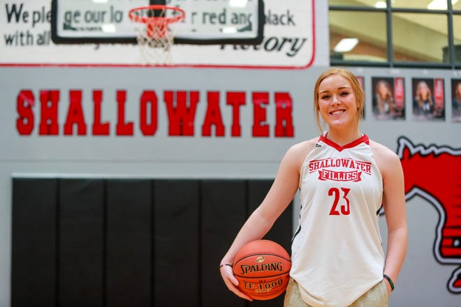Shallowater junior Bree Brattain was named the Lone Star Varsity girls basketball Preseason Player of the Year. Brattain averaged 17.1 points and 6.3 rebounds per game and was named the Caprock Classic MVP as well as the District 2-3A co-Offensive Player of the Year en route to helping the Fillies advance to the Class 3A state tournament.