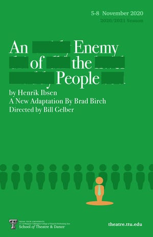 """The Texas Tech University School of Dance and Theatre will present """"An Enemy of the People"""" by Henrik Ibsen Nov. 5-8."""