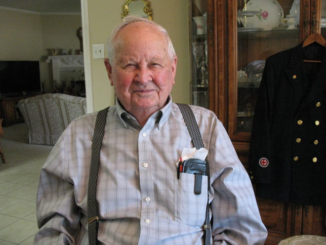 Horace Anglin is a retired fire chief with the Lubbock Fire Department. Sixty-four years ago, he helped fight a large fire that broke out on the roof of the Lubbock Municipal Coliseum. nearly destroying it.