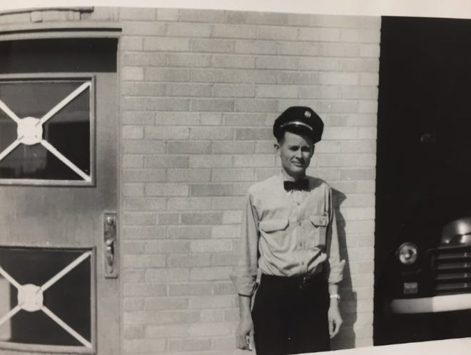 Horace Anglin is pictured during his early days with the Lubbock Fire Department.