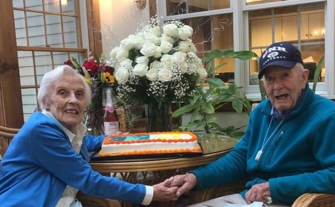 Donald and Priscilla Clark recently celebrated their 75th wedding anniversary at Poplin Way Assisted Living in Fremont.